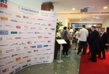 Hotel lobby with Sponsorship wall